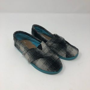 Toms Flannel Plaid Shoes Toddler Size 11